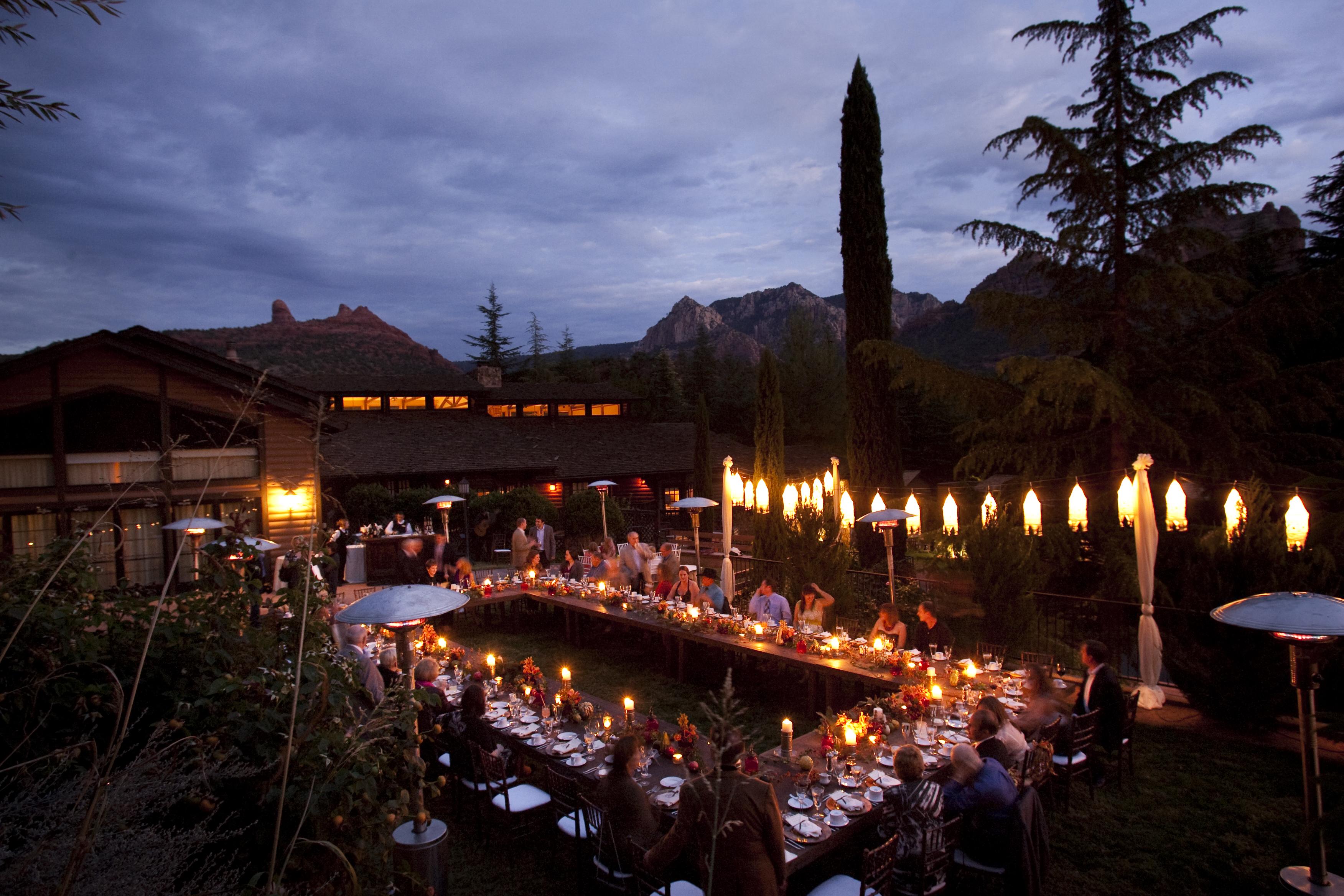 A Wedding Dinner At L Auberge De Sedona