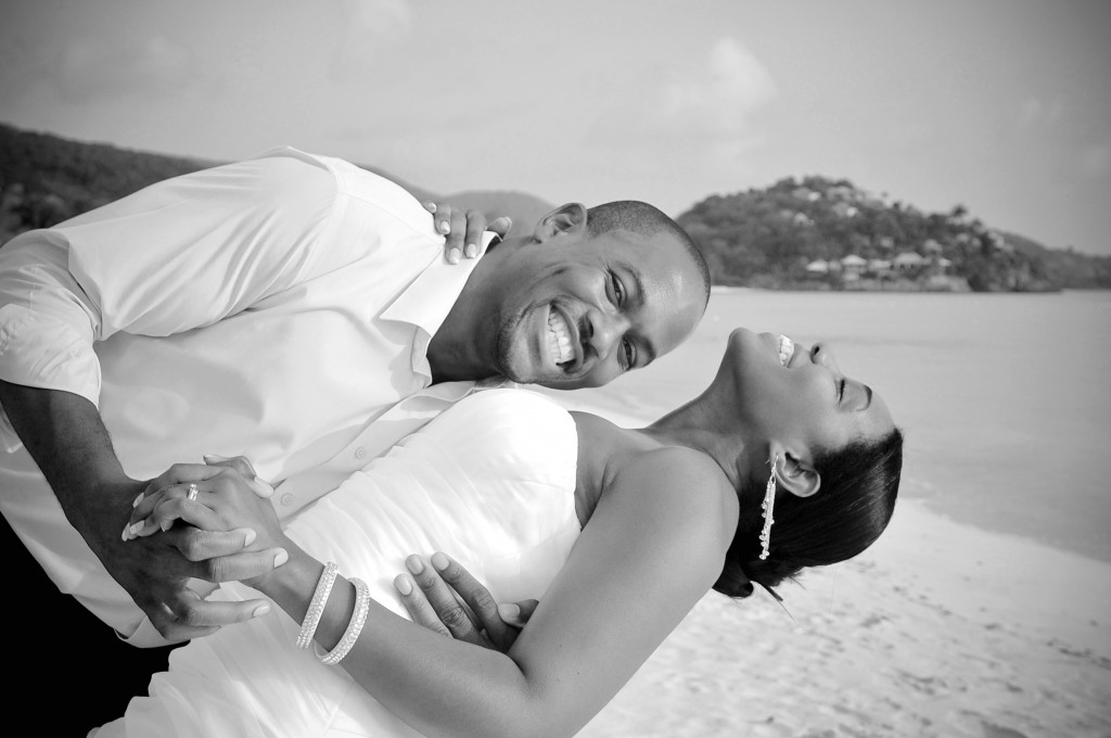 You'd smile too, if you won a week at the Jolly Beach Resort on Antigua