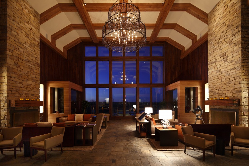 The lodge lobby at Primland