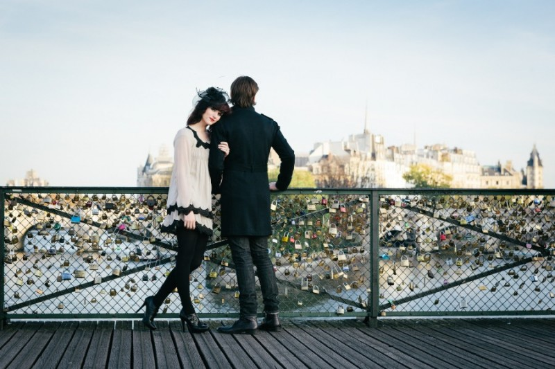 Paris's Pont des Arts, where lovers padlock their names together, then throw the key into the river