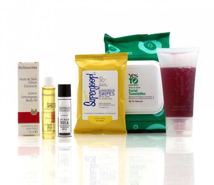The Spa Week Traveling Beauty Kit from www.3floz.com
