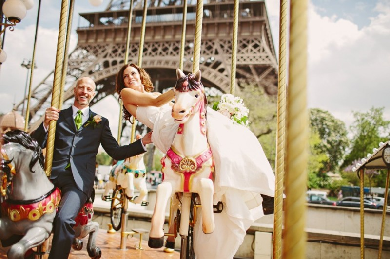 From The Paris Wedding, another portrait at Eiffel Tower
