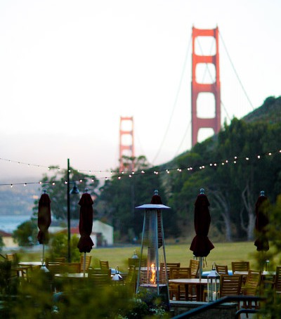 Golden Gate Bridge views from wedding at Cavallo Point lodge