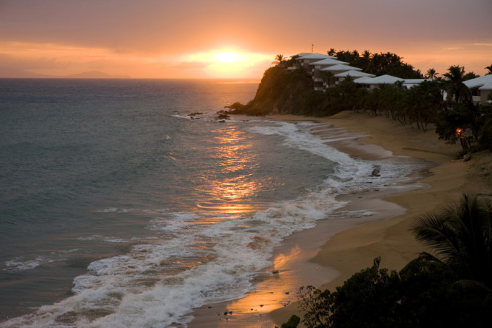 Curtain Bluff, Antigua, at sunset