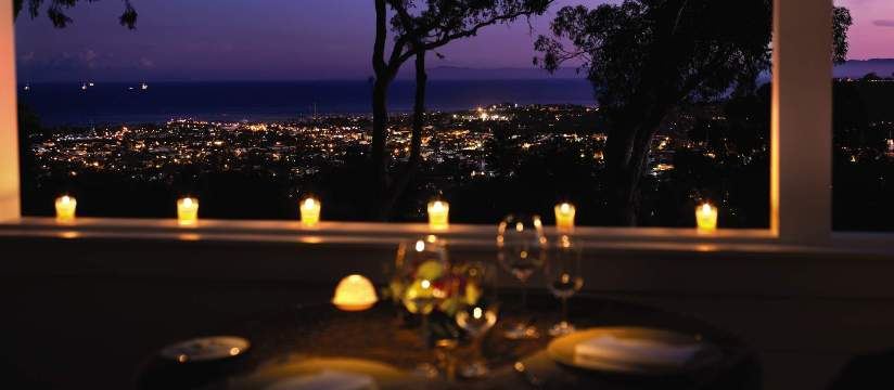 Santa BArbara's El Encanto offers serene views above the Pacific.