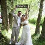 Melanie Nashan wedding photos: The Thank-You sign