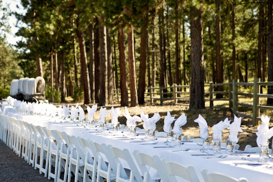 An Outdoor Wedding Feast At Paws Up
