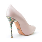 Aruna Seth Candy heel in rose leather, $1,066