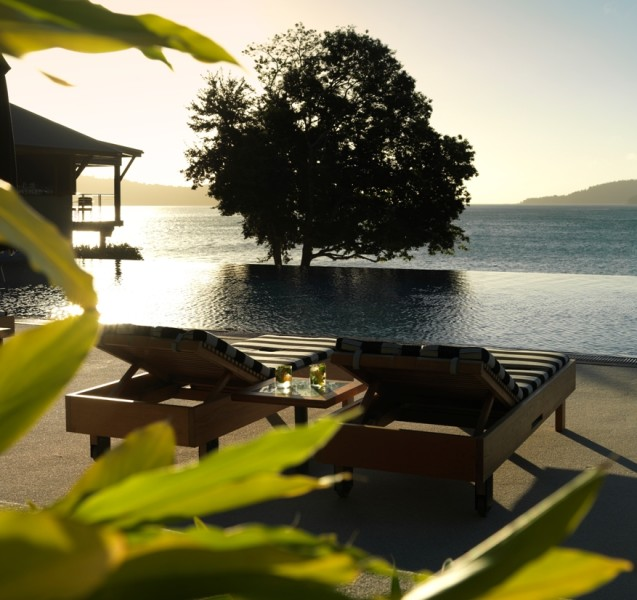 Deck chairs qualia resort