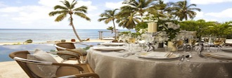 Table by the sea at Villa Aqua Mare British Virgin Islands