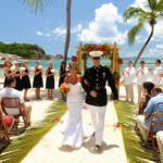 Bolongo Bay military wedding by Oliver White, Dow Studios, V.I.