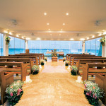 glass wedding chapel Gran Caribe Real Cancun.