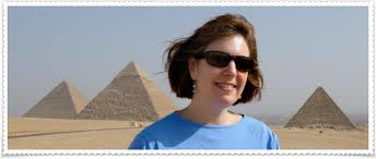 Travel guru Wendy Perrin at the pyramids
