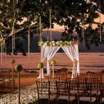 Wedding setup at the St. Regis, Princeville, on Kauai