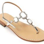 """""""Valentina White"""" Canfora sandals"""