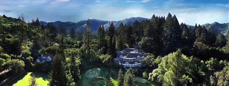 Meadowood resort, Napa Valley, aerial