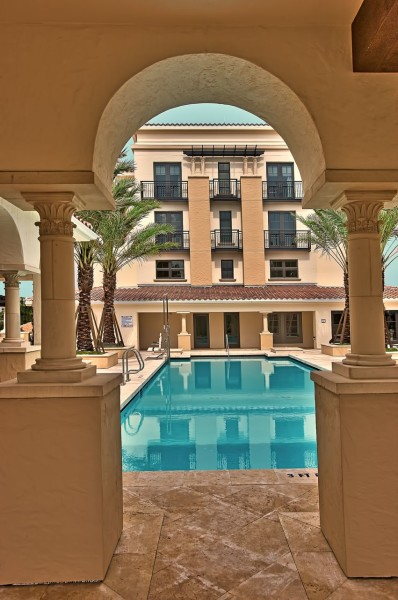 Rooftop pool at the Alfond Inn