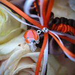 Customized garter--perfect for marrying an NFL star (photo courtesy Alain Martinez)