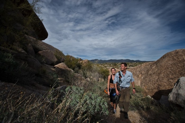 A wedding weekend hike at the Boulders in Scottsdale, AZ