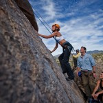 Active wedding weekend: rock-climbing at the Boulders in Scottsdale, AZ