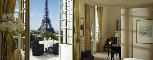 View from Eiffel Tower suite at Hotel Shangri-La