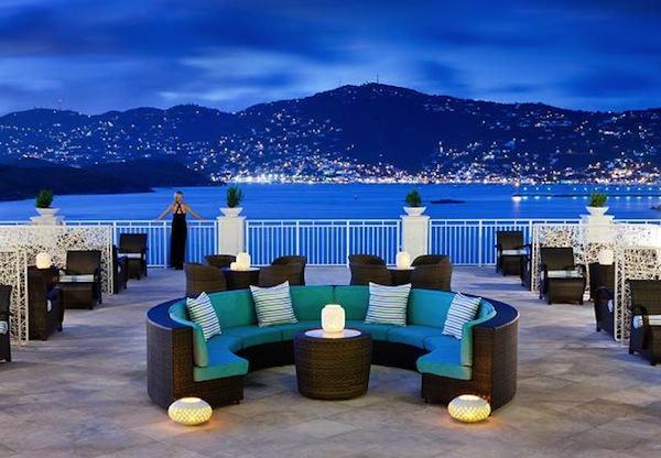 Night View From Terrace Of Frenchman S Reef Morning Star St Thomas U V I