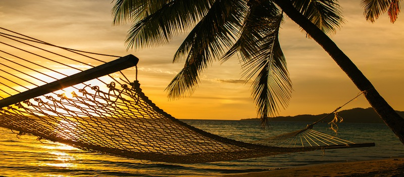 hammock on Fiji beach