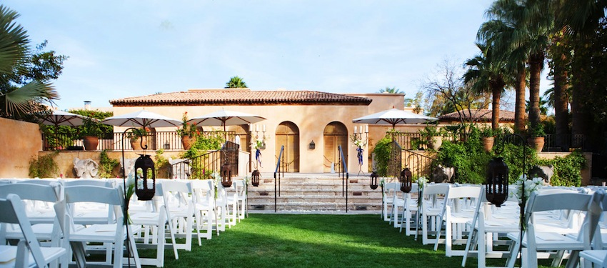 garden wedding venue site Royal Palms Resort