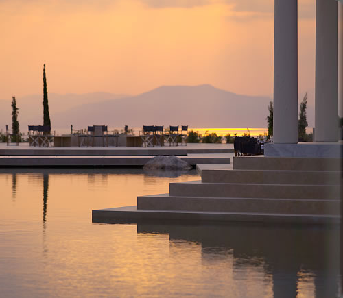 Amanzoe, a wedding site where classic Greek beauty meets 5-star service