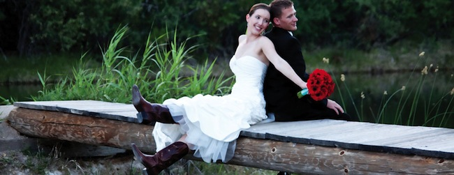 Brides In Boots The West S Destination Wedding Dress Code