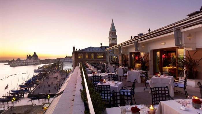 Hotel Danieli, with a view of the Venetian lagoon.