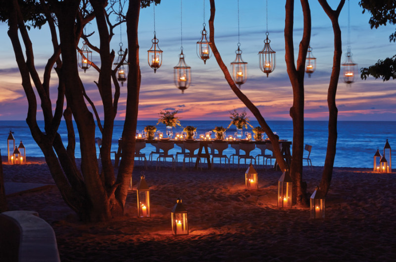 Setup for a barefoot beach wedding at Four Seasons Resort Punta Mita