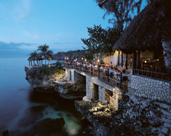 Cliffside dining at Rock House, in Negril
