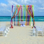 Fiesta Beach wedding at Allegro resorts