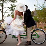 Bride, groom, and bike at Four Seasons Rancho Encantado, just outside Santa Fe