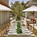 n outdoor wedding setup at the James Royal Palms