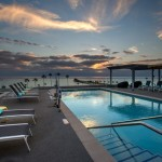 Sunset at the pool, Spring Hill Suites in Oceanside, CA