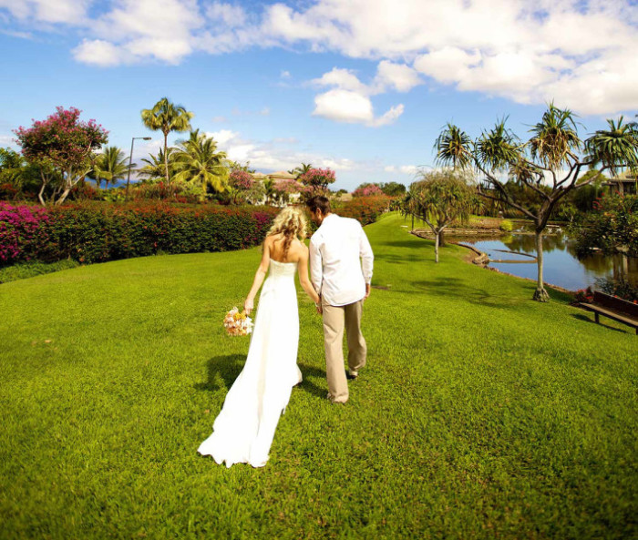 The wedding grounds at Maui's Hotel Wailea