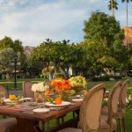 Ideal for a bridesmaids' lunch: La Quinta's garden-in-the-desert