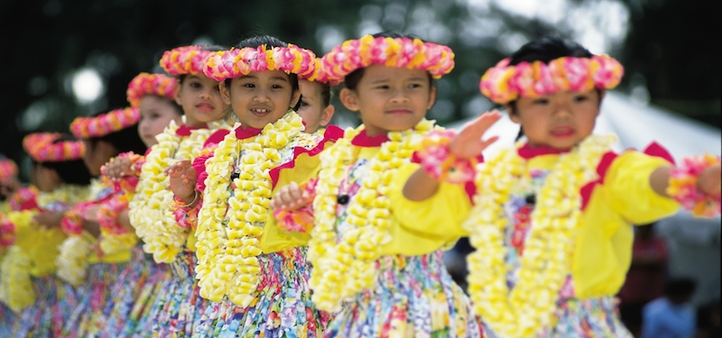 Children doing hula