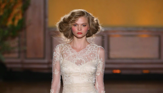 The romance of a vintage-style lace wedding gown from Claire Pettibone