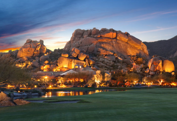 The magic of The Boulders is the blend of nature and architecture—a beautiful wedding backdrop