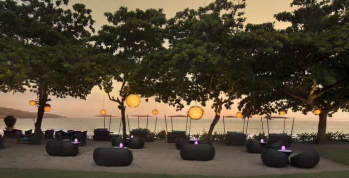 Wedding reception fantasy: Twilight on the beach at the InterContinental Bali