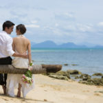 Wedding couple at Thailand's InterContinental Samui Baan Taling Ngam Samui