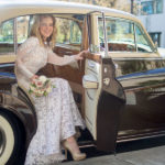 Brides arrive by vintage Rolls-Royce at Portland's glamour-obsessed Hotel deLuxe