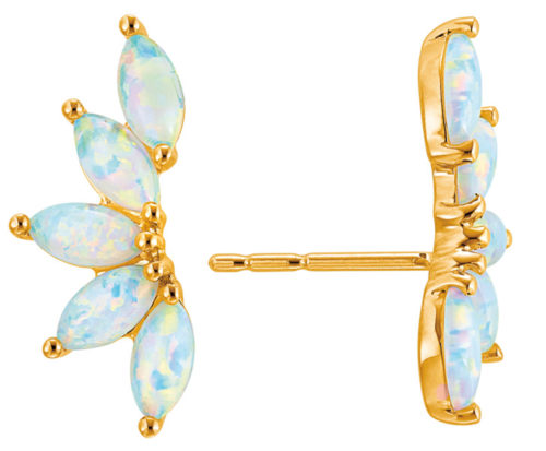 Perfect for a Hawaiian beach wedding: opal climber earrings from Jared