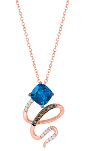A topaz pendant captures Jamaica's cerulean waters and free spirit.