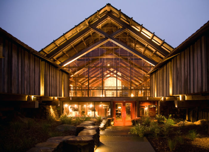 Soaring Lines And Expansive Es Make The Timber Cove Inn Feel Almost A Part Of