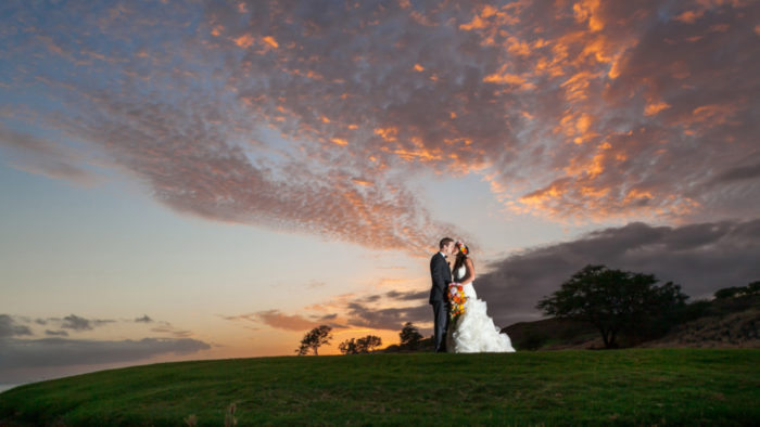On the Hawaiian island of Lanaie, the Manele Bay golf course is back in business as a spectacular wedding venue.